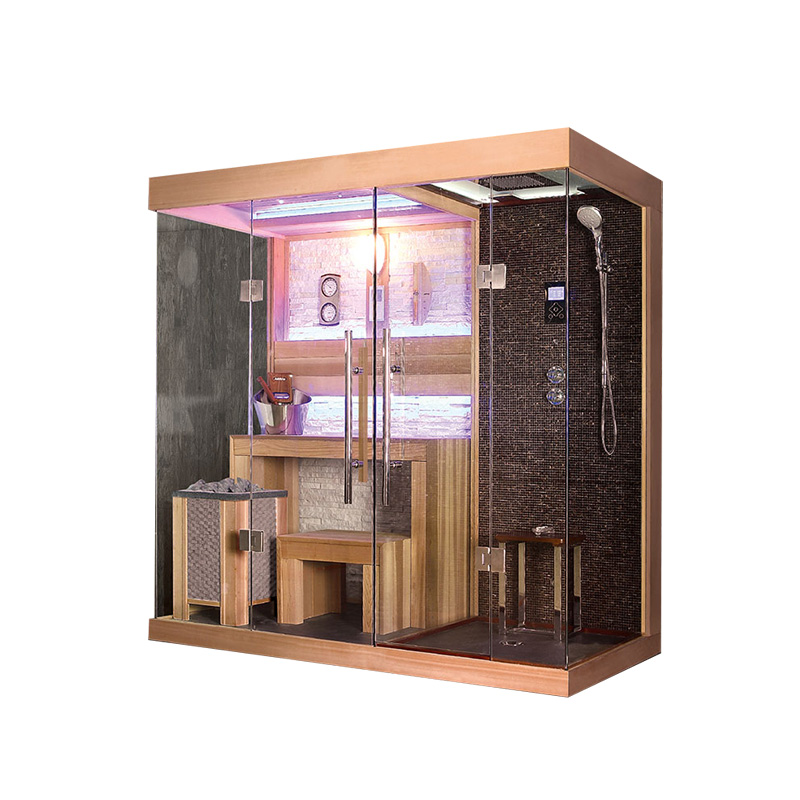 Wet Dry Combination Indoor Luxury Sauna shower mixer steam shower room