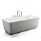 SM6515 White Color Cheap Acrylic high material Indoor bath soaking hot tubs