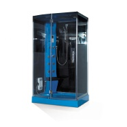 Discount prices free standing air massage jet blue color design shower steam room