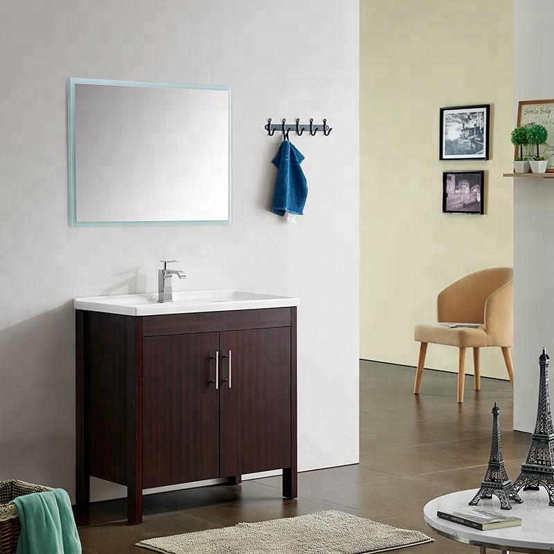 ow price 31.5 inch freestanding floor mount toilet bathroom vanity double door cabinet with mirror