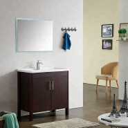 ow price 31.5 inch freestanding floor mount toilet bathroom vanity double door cabinet with mirror