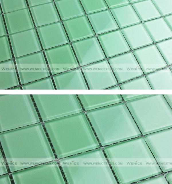light green crystal glass swimming pool mosaic