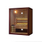 Portable 2 person mosaic nature stone background pine solid wood and standard heater steam dry sauna