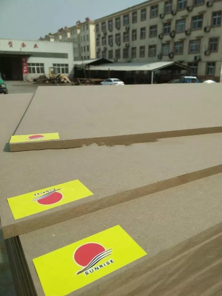 1525*2440*3mm Germany producing line Plain/Raw MDF board E1 grade