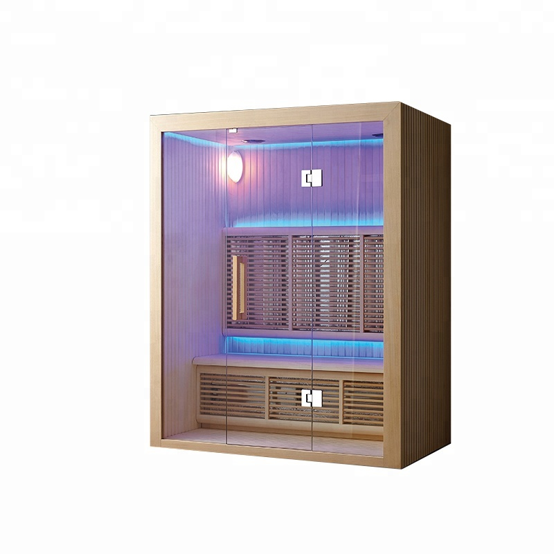 Simple style house hot heating pipe sauna dry steam room