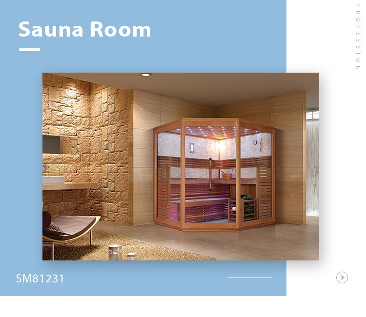 SM81231 Low price bathroom bath portable luxurious sauna dry steam room