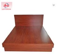 bedroom wood double platform bed designs