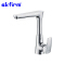 Polished brass kitchen mixer tap single level faucet