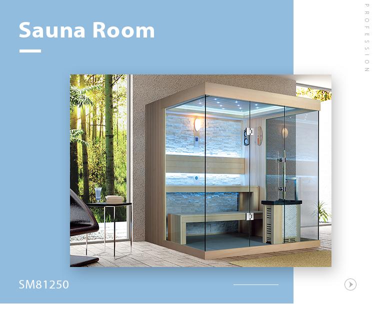SM-81250 Dubai Australia luxury solid wooden best lighting lamp steam accessories shower sauna room