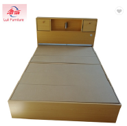 chinese wooden storage bed with drawers