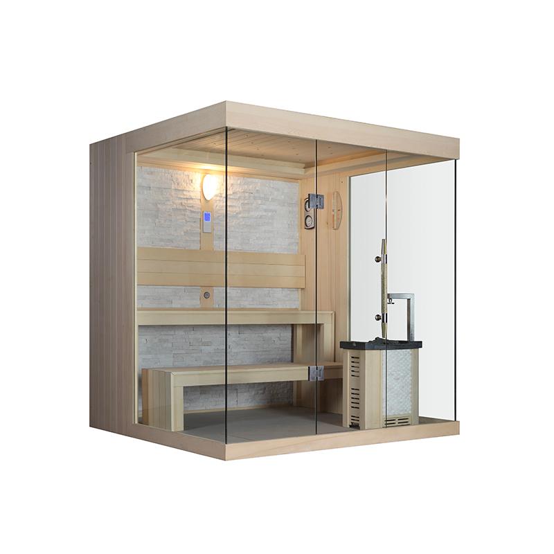 Dubai Australia luxury solid wooden best lighting lamp steam accessories shower sauna room