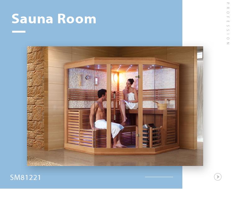 SM81221 Magic product nature stone wall glass door sauna dry steam room