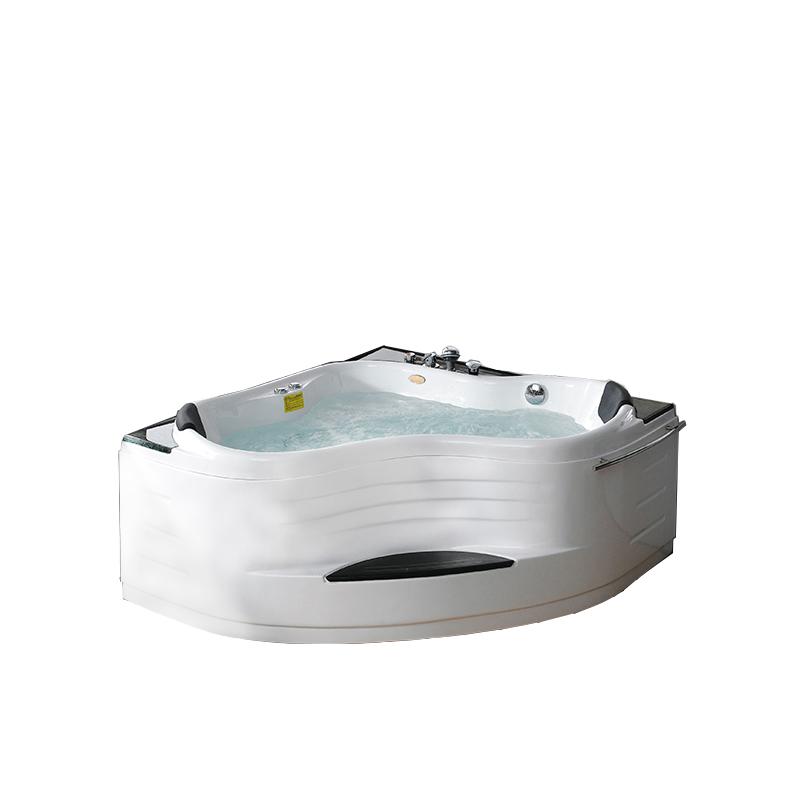 SM6028 Famous manufacturer Triangle shaped shower acrylic massage bath tub small whirlpools bathtub