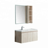 10 years warranty waterproof side set Color option triple 3 door bathroom vanities wall hung mount p