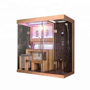 Wet Dry Combination Indoor Luxury Sauna shower mixer steam room