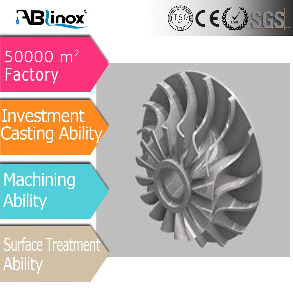 OEM manufacturer for Kindss of Stainless Steel Casting Water Pump Impeller