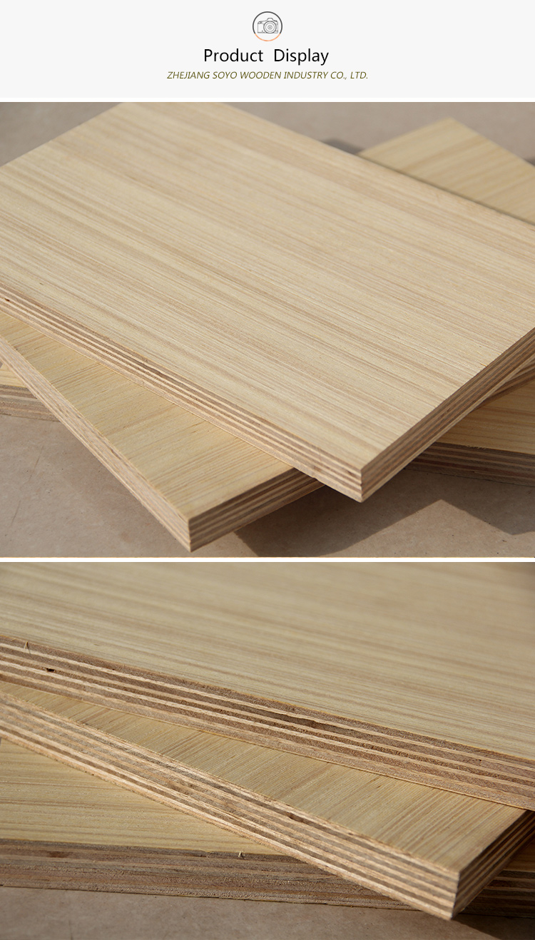 4'*8' competitive price commerical okume face plywood for furniture