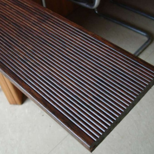 strand woven light carbonized Piso bamboo deck flooring