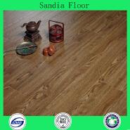 11mm High Density Fiberboard Laminate Flooring / Oak Color V-groove Eir Surface Ac4 Waxed Waterproof