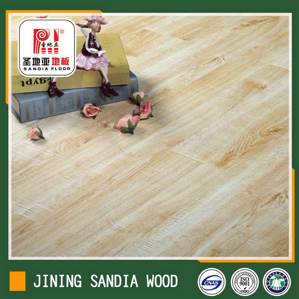 8mm Float Installation Cracking German Laminate Floor / Cheap Oak Wood Parquet Laminate Flooring Pri