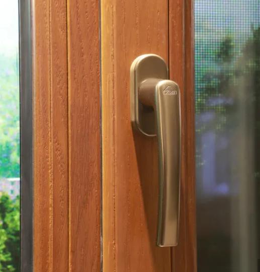 Aluminum and Wood Composite Horizontial Pivoting Window