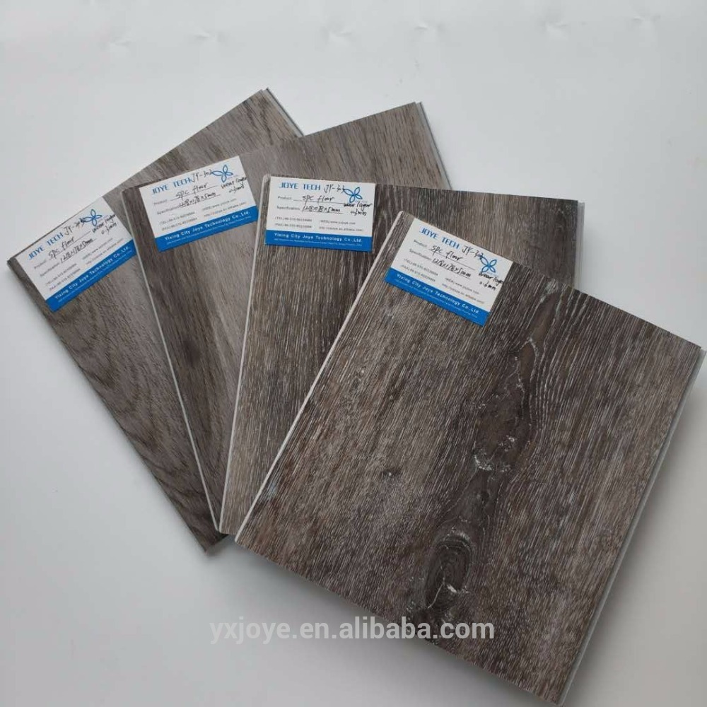 gray white color bathroom uv coated spc flooring