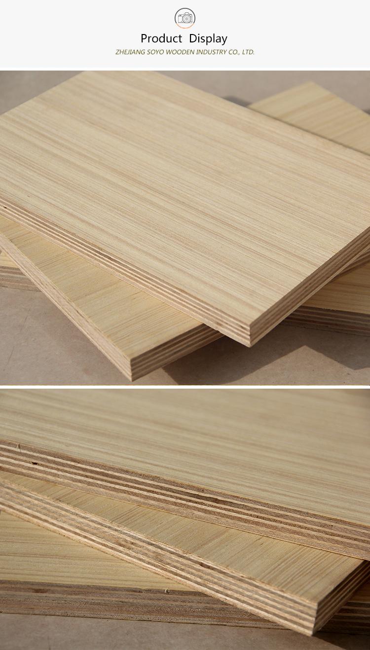 15mm E0 Standards more durable  eucalyptus core 1250*2500mm EV plywood