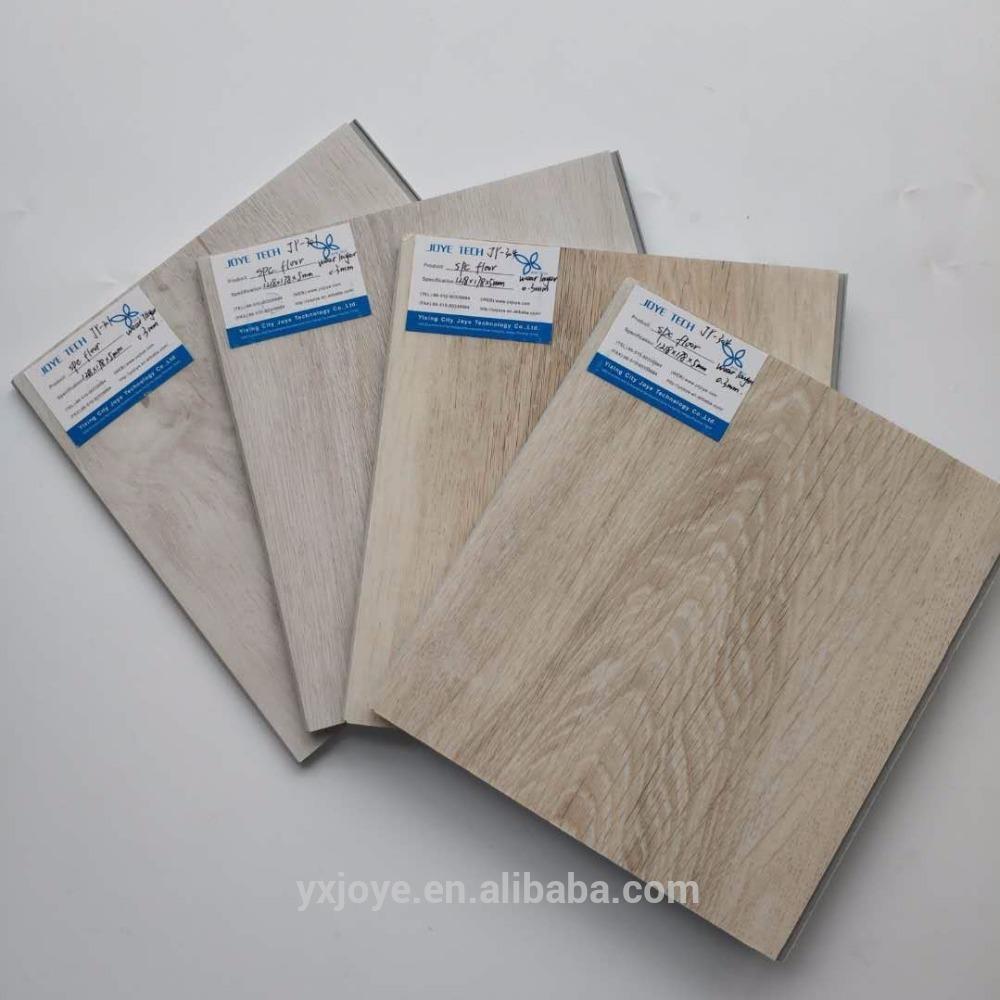 printed colorful click lock raw material spc floor vinyl floor