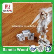 Solid Germany High Gloss Laminated Flooring / High Density Laminated Wood Flooring