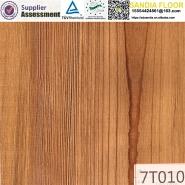 Wax Sealing Yellow Colored Walnut Hdf Core Laminate Engineered Wood Flooring