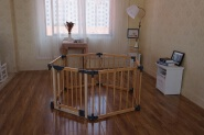 S101 Children Furniture Safety Care Babies Wooden Playpen