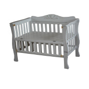 Luxury solid wooden baby cot white baby crib