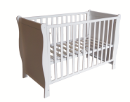 CJ-C028 Modern Bedroom Furniture Wood Side wave shape Baby cot