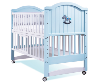Factory Direct Sale Pine Wood Baby crib cot For Bedroom Furniture
