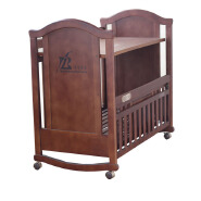 CJ-C022 new popular brown baby cot bed crib with music