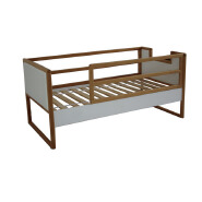 CJ-B001 Hot design simple solid wood beech bed with staircase