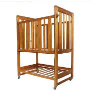 Natural wooden new cheap prices crib baby bed cot for children