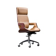 China Factory Directly sale High Back Luxury Wooden Manager Office Chair