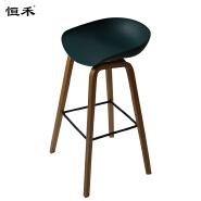Modern wood bar stool bar chair,high green bar chair