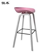 Modern hotel restaurant pink wooden bar chair with footrest