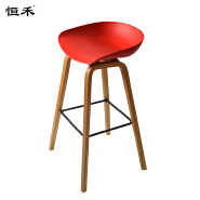High chair for snack bar plastic wooden bar chair