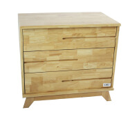CJ-A001 Modern Bedroom Furniture Wood Bed Side Cabinet with 3 drawers