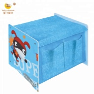 Small-Size Wooden Kid Toy Organizer with Fabric Toy Box