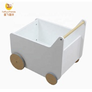 Toffy & Friends Water paint natural wooden kids toy storage box small cart