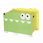 Wooden Kid Toy Box In Crocodile Design