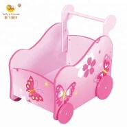 wooden kids toy storage cart kids toy trolly
