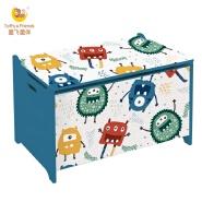 Toffy & Friends WATER PAINT wooden kids toy storage box in Monster design