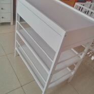 New born solid wood white baby changing table nursing table