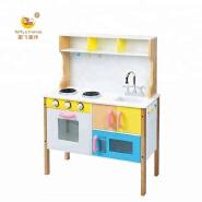 Toffy & Friends Wooden kids pretend play kitchen cabinet