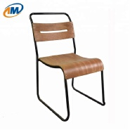SM-1060 Metal Canteen Chair with Wooden Seat and Backrest